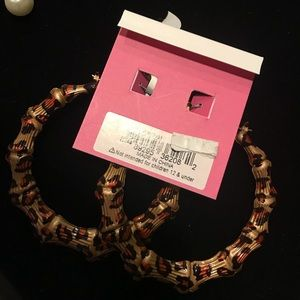 Betsey Johnson Jewelry - Betsey johnson bamboo hoop earrings.